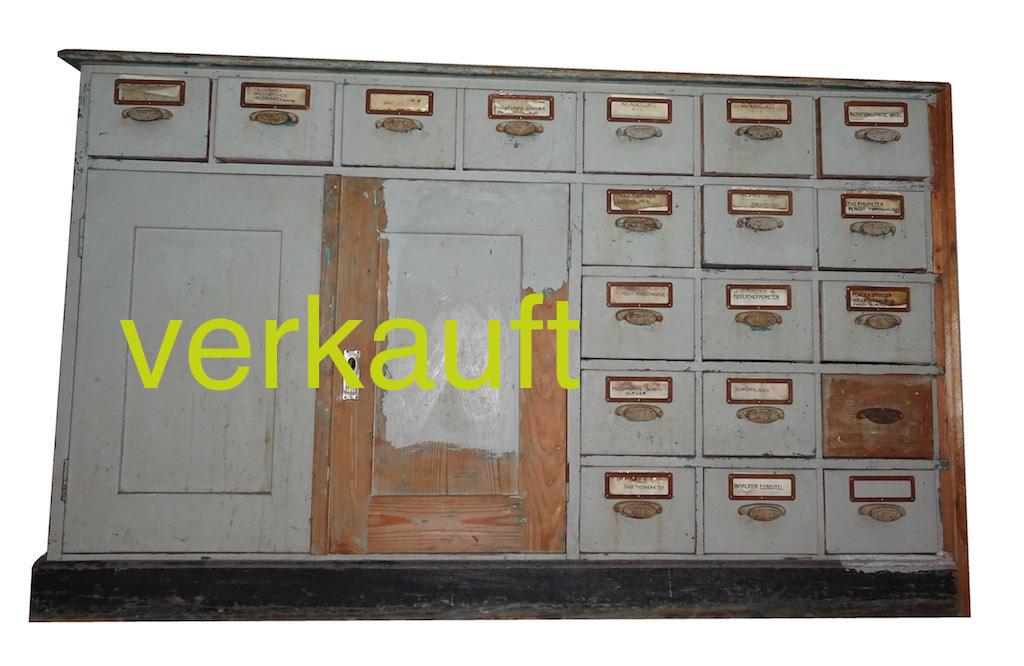 Verkauft Schubladenstock2Türen,grauAug15A