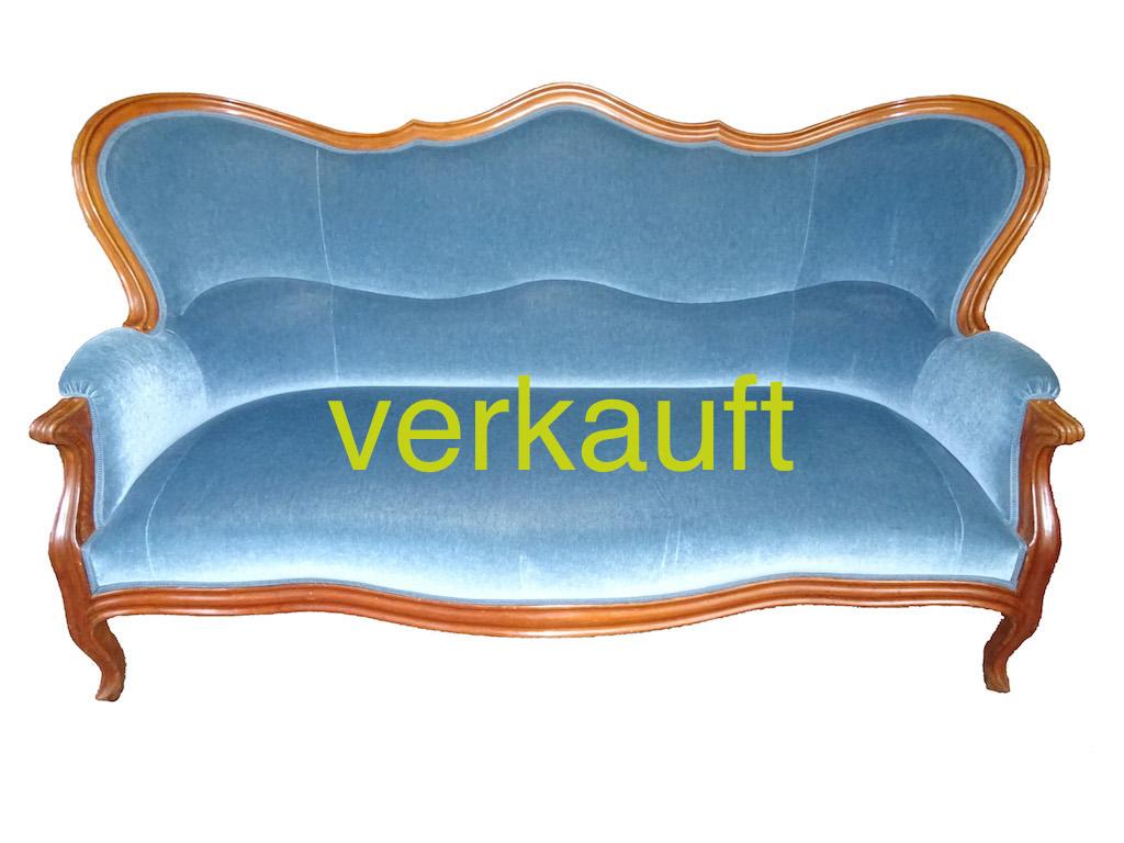 Verkauft Sofa L.Phil blau Nov15A