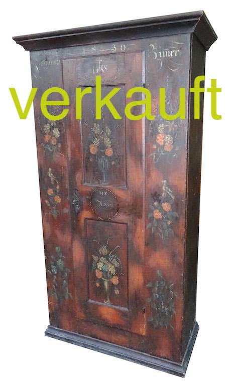 Verkauft: Seltenst: signierter Schrank von Melchior Streich ...