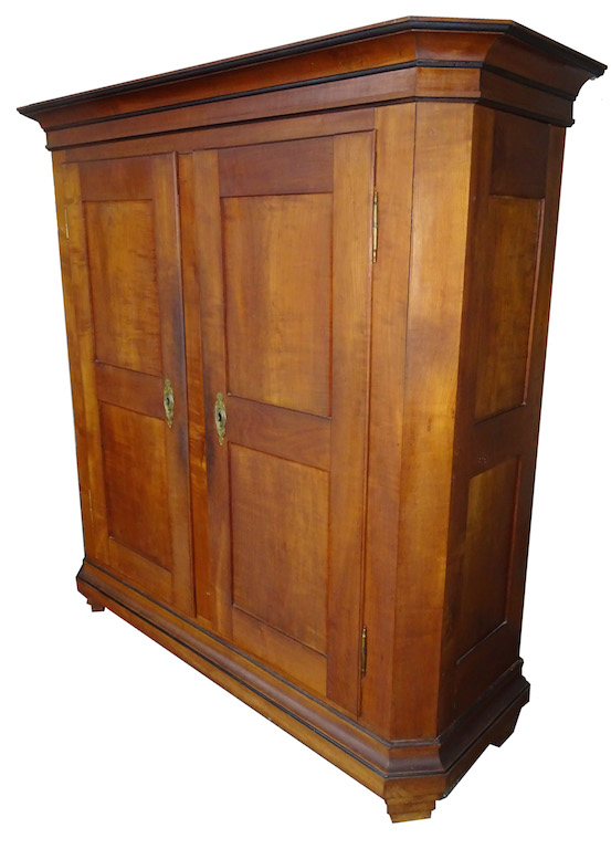 reserviert antiker z rcher biedermeier schrank kirschbaum edeltr del antike m bel. Black Bedroom Furniture Sets. Home Design Ideas
