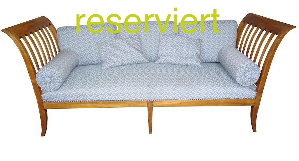 reserviert biedermeier sofa liege nussbaum. Black Bedroom Furniture Sets. Home Design Ideas