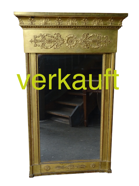verkauft seltener grosser empire spiegel edeltr del antike m bel. Black Bedroom Furniture Sets. Home Design Ideas
