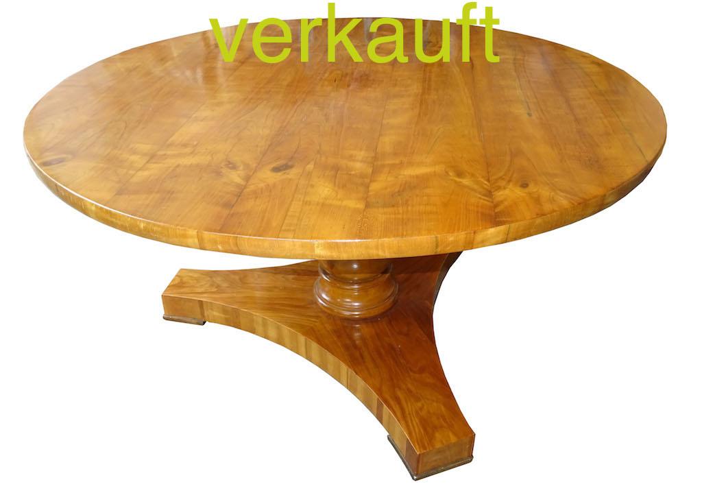 verkauft selten sehr grosser runder biedermeier tisch edeltr del antike m bel. Black Bedroom Furniture Sets. Home Design Ideas
