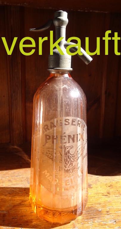 Siphonflasche rosa Sept16A verkauft