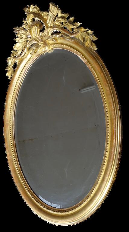 ein weiterer pr chtiger ovaler spiegel ca 1850. Black Bedroom Furniture Sets. Home Design Ideas