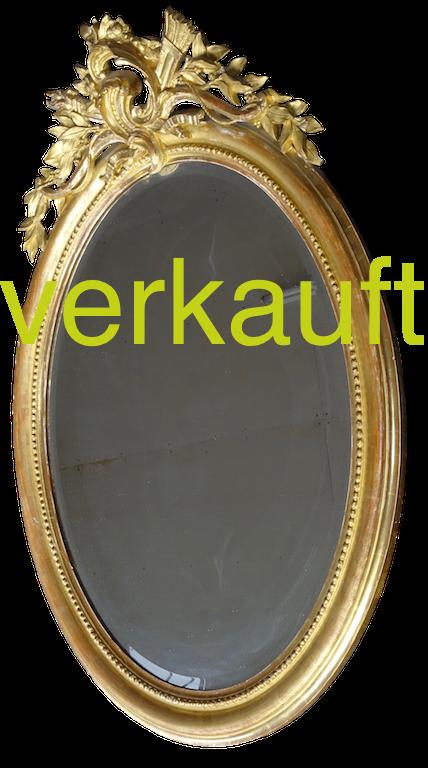 Spiegel oval Facetten Nov.16A verkauft