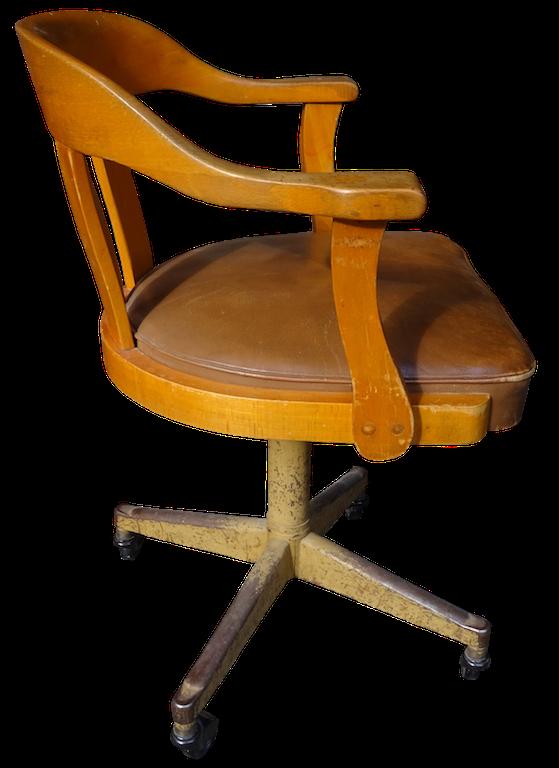 verkauft sehr cooler b ro drehstuhl der 30 er jahre. Black Bedroom Furniture Sets. Home Design Ideas