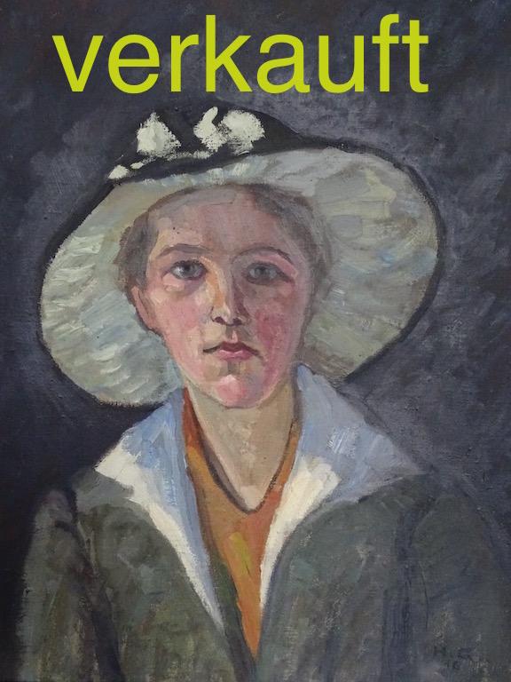 Portrait Dame 1916 Dez16A verkauft