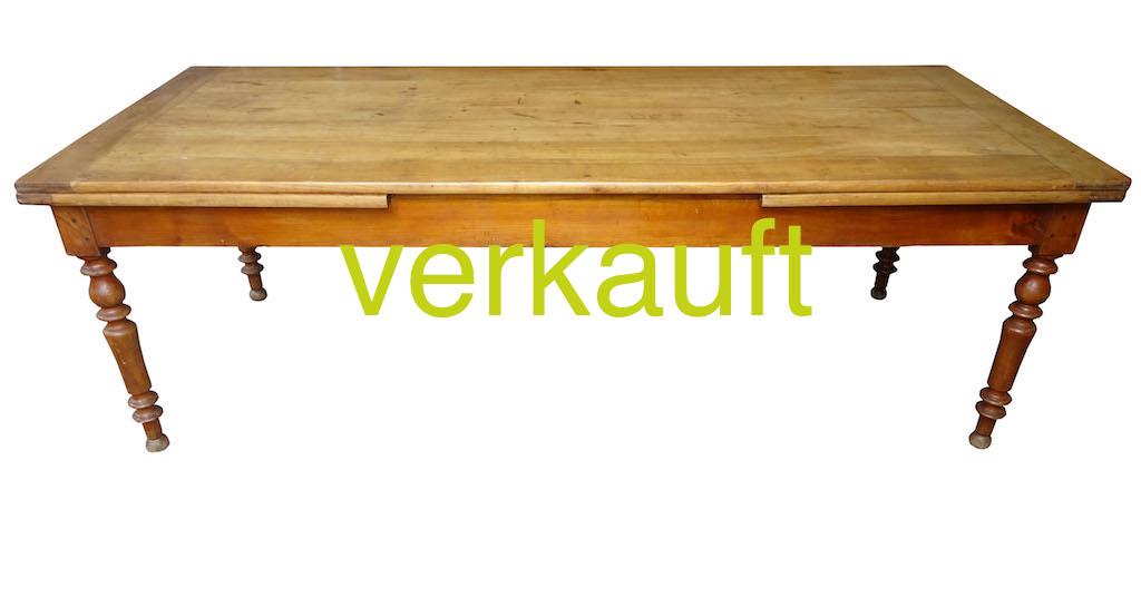 verkauft sehr grosser auszieh tisch 100 kirschbaum edeltr del antike m bel. Black Bedroom Furniture Sets. Home Design Ideas