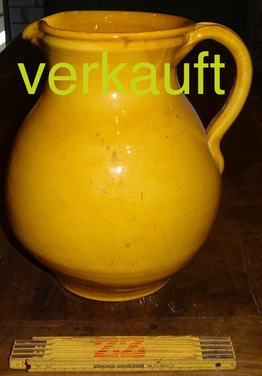 Wasserkrug gross gelb Dez12A verkauft