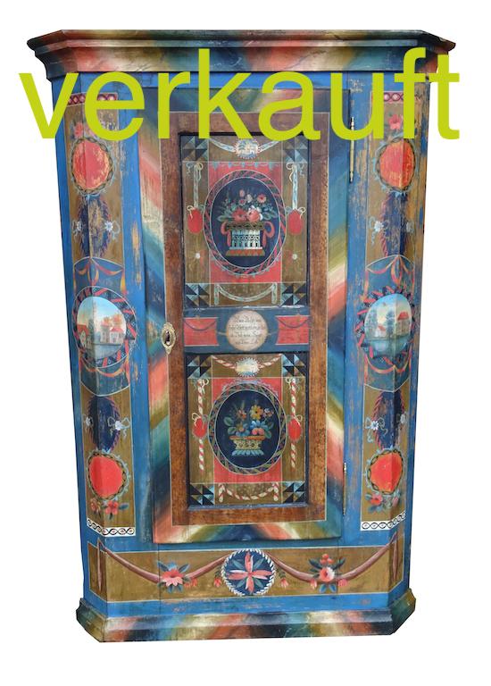 Verkauft Wunderschöner Appenzellerschrank Original Bemalt