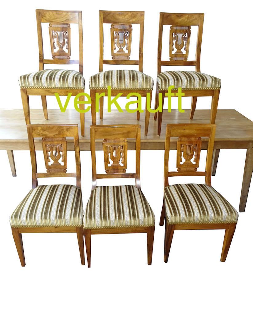 6 StühleBdmgepolstertVögelMai17A verkauft