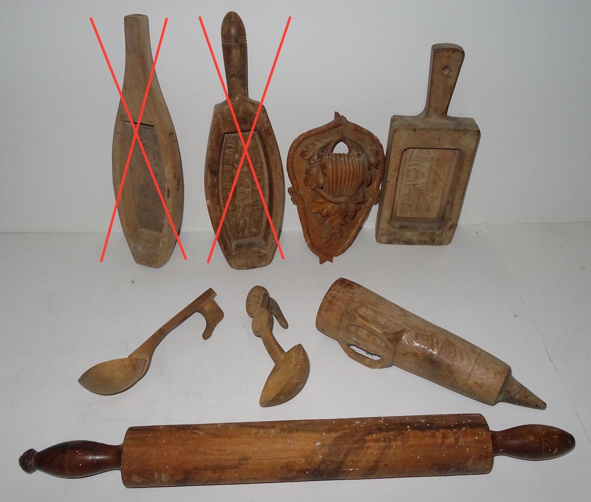 Geschnitzte Gebrauchsgegenstände Nov17A 2verkauft