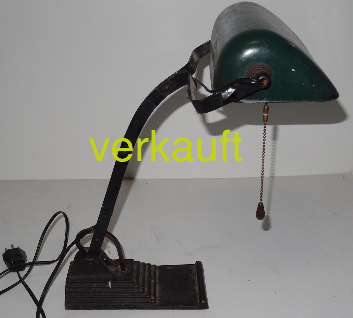 Schreibtischlampe Jgdst Nov17A verkauft