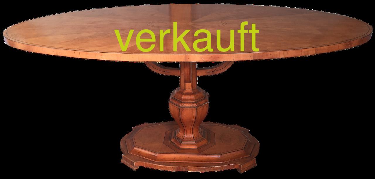 Tisch oval Bdm Mai18A verkauft